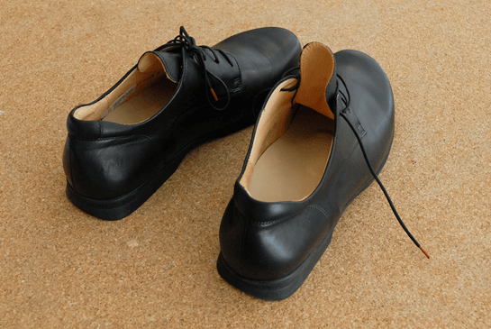 Fertige Einlagen in den Schuhen